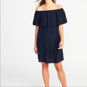 Off shoulder linen dress